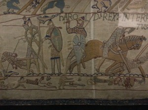 Replica Bayeux Tapestry + severed limbs