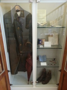 Freud's coat, umbrella, boots, and other small possessions.