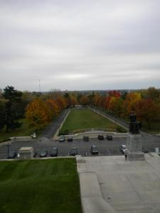This picture was taken in October.  The trees will not be this pretty if you visit now.