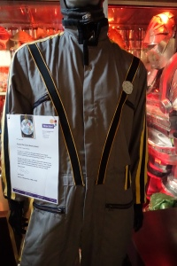 an actual suit used on the Crystal Maze