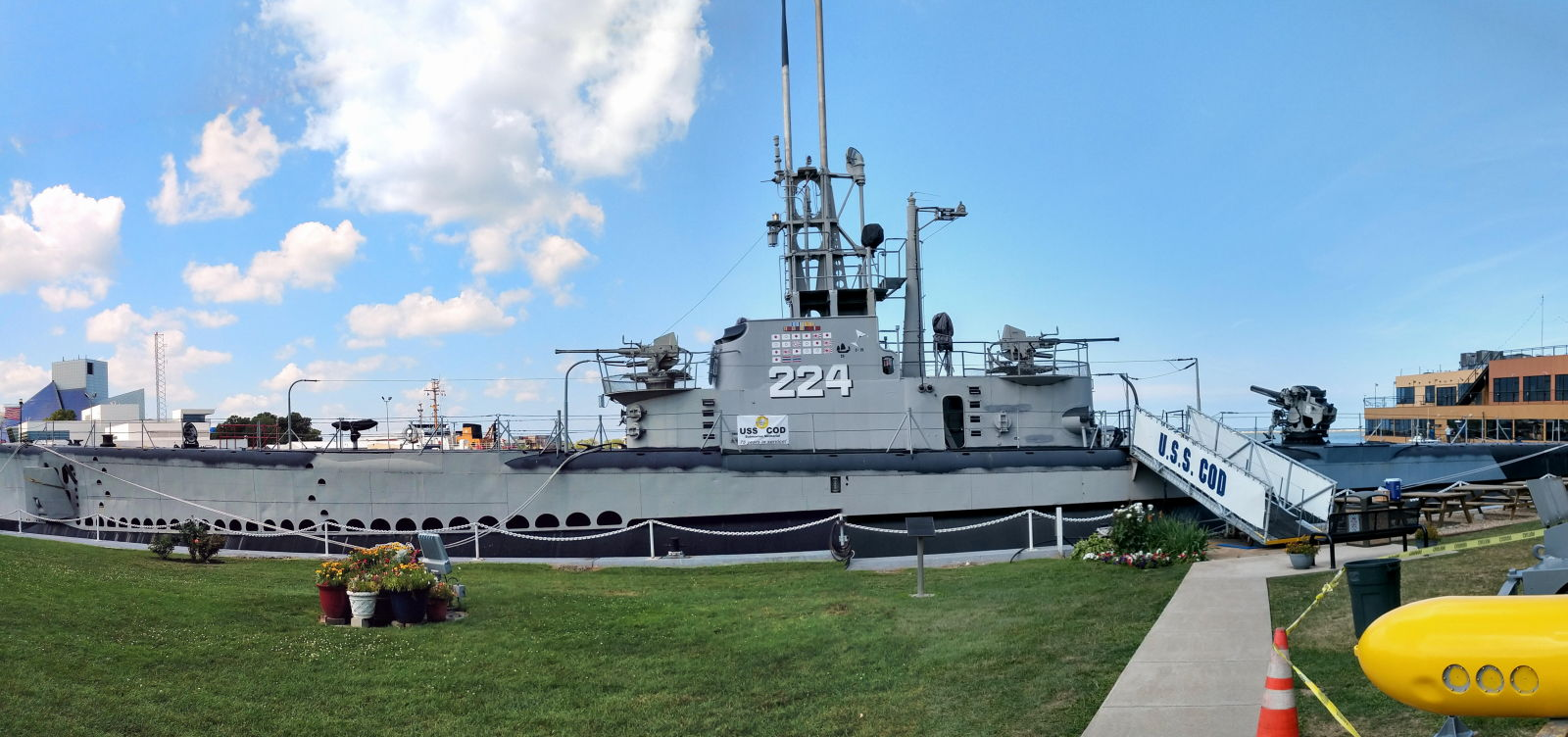 The USS Cod docked at its home in Cleveland, Ohio
